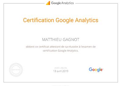 Certificat Google Analytics 400px