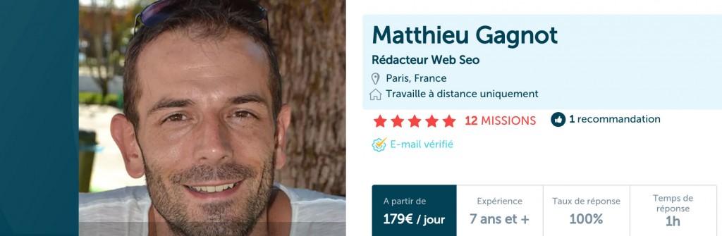 Profil hopwork Matthieu Gagnot
