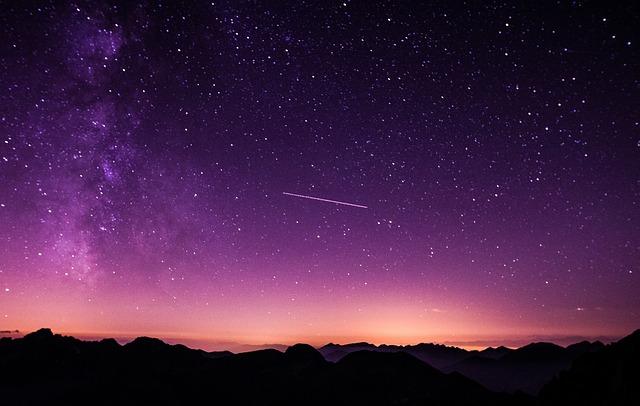 éléments bon blog étoile filante ciel violet