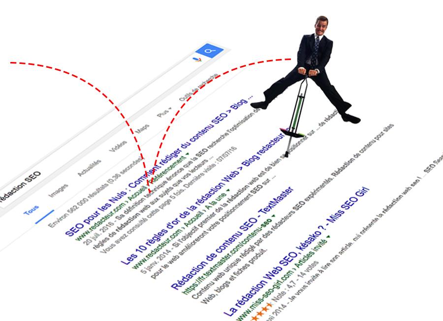 pogo sticking - SEO - rédaction web