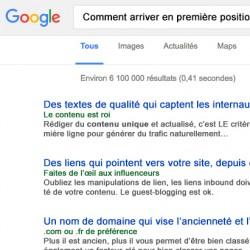 Critères de ranking classement SEO google small