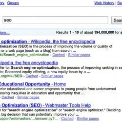 Google ancienne interface recherche SEO